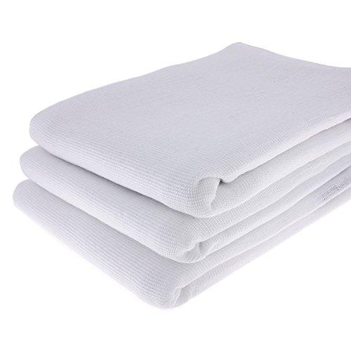 3 WEIßE Geschirrtücher aus 100 % Baumwolle / 70 x 50 cm / Handtuch / Küchentuch / Spültuch / Putztuch / weiß