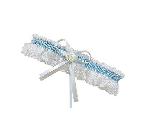 BrautChic XL XXL Strumpfband zur Hochzeit - Schmales ELEGANTES Brautstrumpfband EXTRA WEIT, für Brautkleid große Größen - Must Have - Brautaccessoires, Trauzeugin Geschenk an Braut - CREME (Ivory)