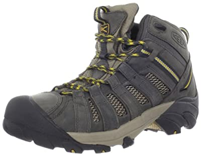 KEEN Men's Voyageur Mid Hiking Boot,Raven/Tawny Olive,10.5 M US