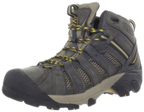 KEEN Men's Voyageur Mid Hiking Boot,Raven/Tawny Olive,10.5 M US