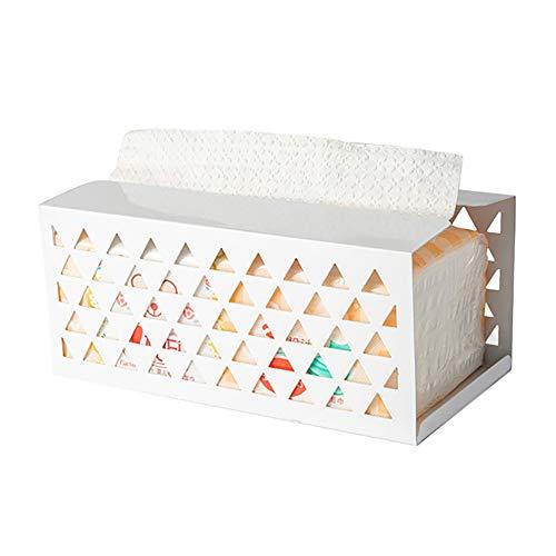 Funie Papierserviettenhalter, kreatives Eisen, hohl, für Papierservietten, Tischdekoration, Gelb s weiß