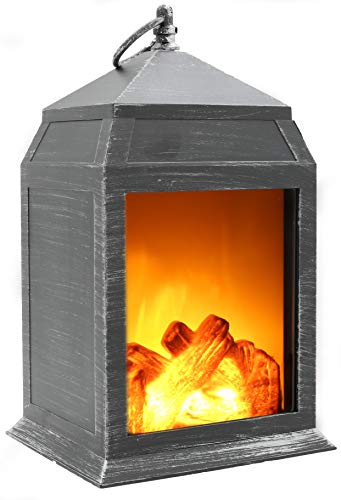 Fireplace Lamp Led Flame Log Effect Fire Place Brushed Style Ornaments Cosy...