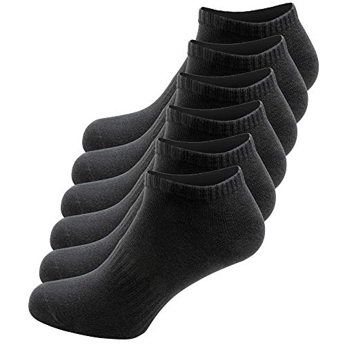 SEMA Sneaker Socken Herren und Damen (6x Paar) Füßlinge ,schwarz 43-46
