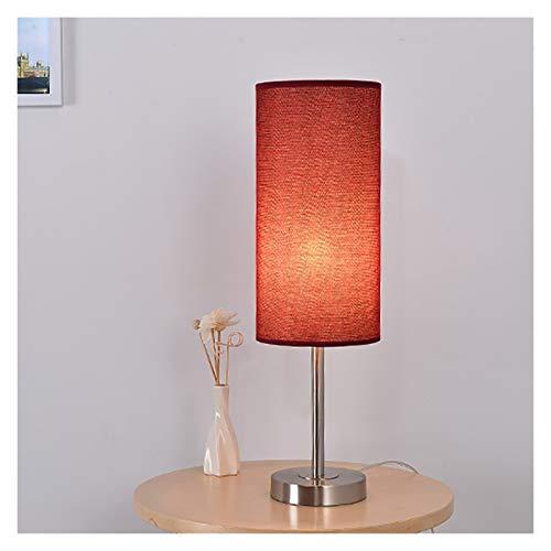 Lluminación Lámpara de mesa de noche minimalista lámpara de escritorio moderna botón del interruptor de la lámpara de sombra luz de la noche Mesilla de noche dormitorio de la lámpara de la sala Durabl