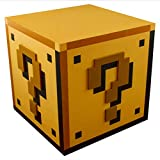 Paladone Nintendo Officially Licensed Merchandise - Super Mario Brothers Question Block Night Light - Table Lamp