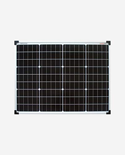 enjoysolar® Monokristallin 24V Solarmodul Solarpanel ideal für Garten Wohnmobil Caravan … (50W/24V)