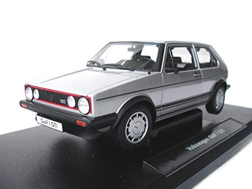 Welly Modellauto 1:18 VW Golf 1 GTI Silber