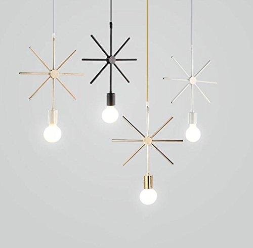 Lampadario moderno lampada a sospensione a sospensione per soggiorno, sala da pranzo e ristorante lampada a sospensione decorazione paralume, nero (Colore : A)