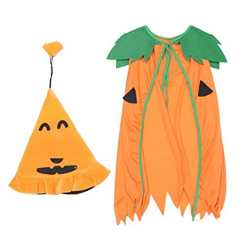 Amosfun 2pcs Cappello da Mantello di Halloween Set Costume Cosplay Halloween Mantello di Zucca in Maschera