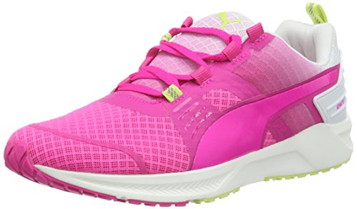 PUMA Ignite XT v2 Wns, Zapatillas de Running Mujer, Rosa GLO White Sharp Green 02, 37 EU