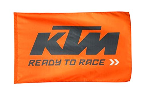 KTM Flag Flagge Fahne orange schwarz