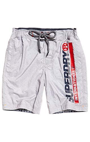 Superdry Herren Boardshort Shorts, Grau (Platinum Grit Q2K), L