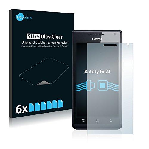 savvies 6-Pezzi Pellicola Protettiva Compatibile con Huawei Ascend P1 U9200 Protezione Schermo Trasparente