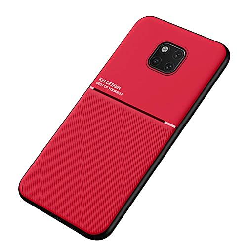Kepuch Mowen Funda Case Carcasa Placa de Metal Incorporada para Huawei Mate 20 Pro - Rojo