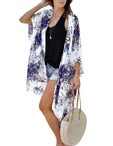 ChainJoy - Bañador para mujer (gasa), diseño floral -  -  Large