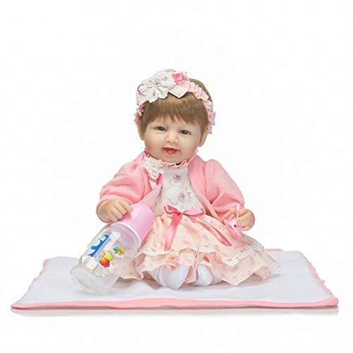 WYZQ Reborn Dolls, Simulation Babypuppe Full Soft Tape Körperpuppe Kinder Cute Play House Companion Grow Geschenk 42 cm Nurturing Dolls