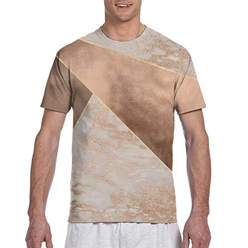 Herren - Shirt Kupferfolie und Rouge Roségold Marmor Herren Sport Kurzarm Shirt