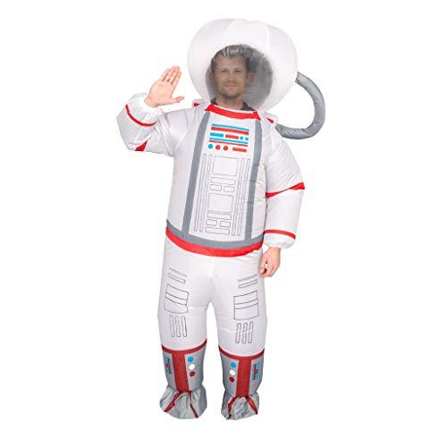 Unisex Astronaut Spaceman Inflatable Chub-Suit Costume Jumpsuit (Adult) White