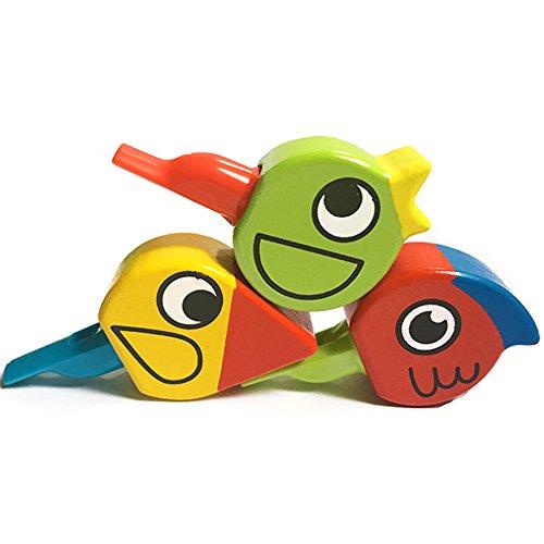 Silbato para pájaros de madera para niños instrumento Musical para Niños letras juguetes para Silbatos grandes niños y niñas para fiesta bottino para bolsos Rellenador Color aleatorio 1pz