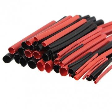 Tubo termorretráctil Obsidian 42 Unidades 2: 1 Tipo H de poliolefina, Color Negro y Rojo