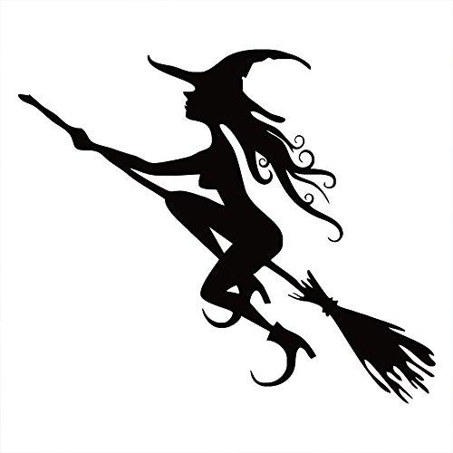 Sedeta Sexy Halloween Bruja del Coche de Caja de camión Parachoques Etiqueta de la Ventana de Bricolaje decoración Negro
