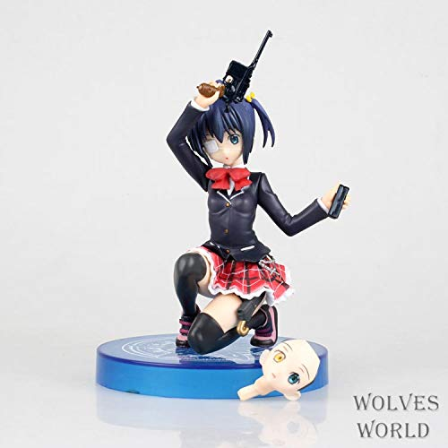 Wsjdmm Anime Figure for Takanashi Rikka, Action PVC Figurine Model Dolls Anime Gifts Toys Model Kits Best Birthday Christmas Halloween Present Decoration Collection - High 15.5cm,Boxed