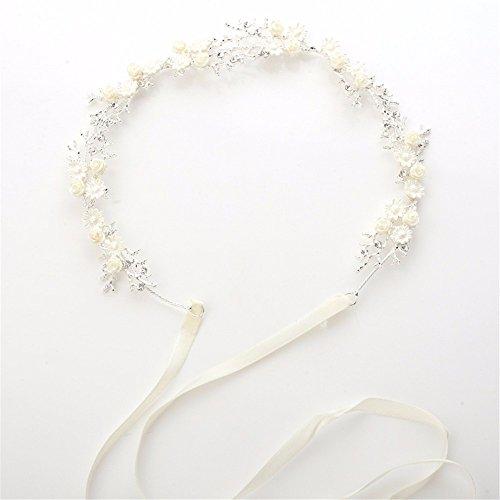 MultiKing bruid hoofdtooi wit strass bloem bruid haarband eenvoudige dunne haarband hoofdtooi bruidsmeisje bruiloft jurk haaraccessoires