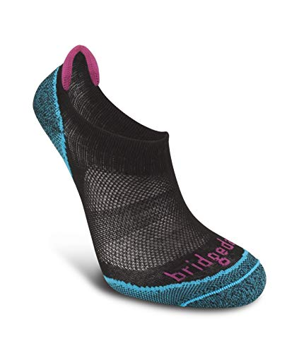 Bridgedale Women's Coolmax Ultra Light Trail Sport - Cool Comfort No Show Socks, Black, Large