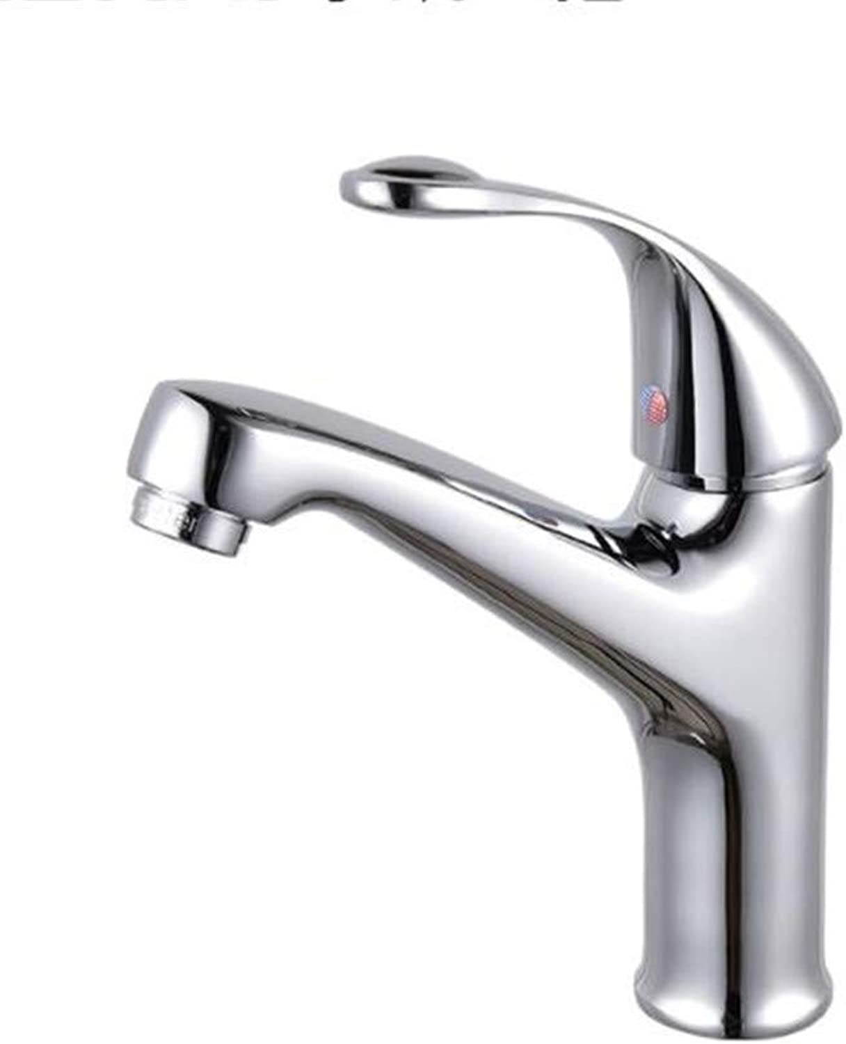 Bathroom Sink Basin Lever Mixer Tap greenical Lifting Cold and Hot Single-Hole and Double-Hole Vegetable Basin Faucet Single-Connection Cold and Hot Mixing Surface Basin Faucet