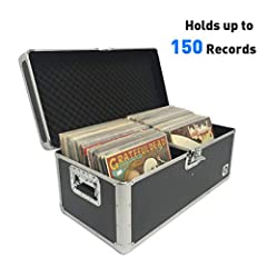Heavy duty outer case- classic acts boasts the best vinyl record album storage crate Made of a strong aluminum outer case and air tight locks for heavy duty records storage. Overall interior protection- Each of our Vinyl record crates is equipped wit...