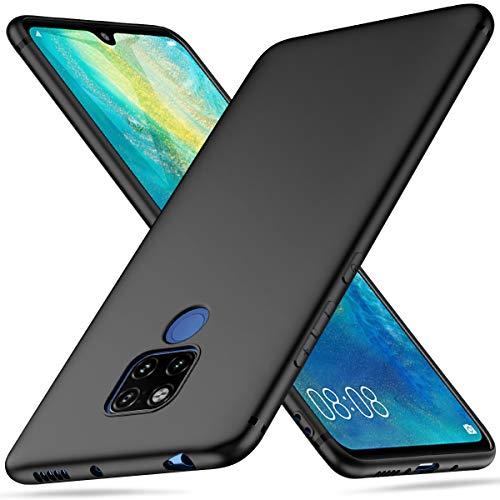 Peakally Huawei Mate 20 X Hülle, Matte Oberfläche Soft Hüllen [Ultra Dünn] [Kratzfest] TPU Schutzhülle Hülle Weiche Handyhülle für Huawei Mate 20 X-Schwarz