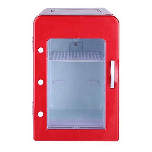H.Slay Mini refrigerador de 4 litros, portátil y silencioso, con Sistema termoeléctrico Alimentado por CA/CC, Enfriador y Calentador para automóviles, hogares, oficinas y dormitorios