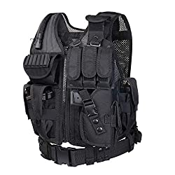 commercial GZ XINXING Tactical Airsoft Vest, 100% Full Return Guarantee (Black) airsoft vest kids