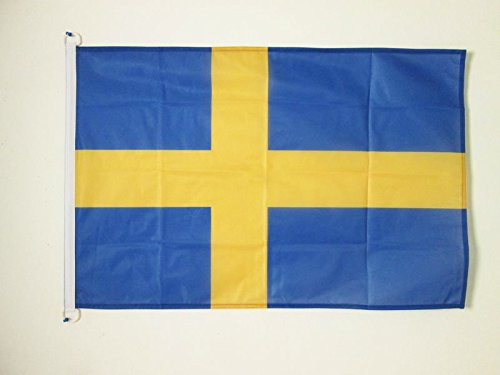 AZ FLAG Flagge SCHWEDEN 90x60cm - SCHWEDISCHE Fahne 60 x 90 cm Aussenverwendung - flaggen Top Qualität