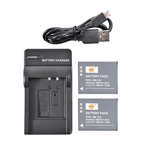 DSTE アクセサリーキット DB-110 互換 カメラ バッテリー 2個 + USB充電器キット対応機種 Ricoh GR III, WG-6, G900, G900SE