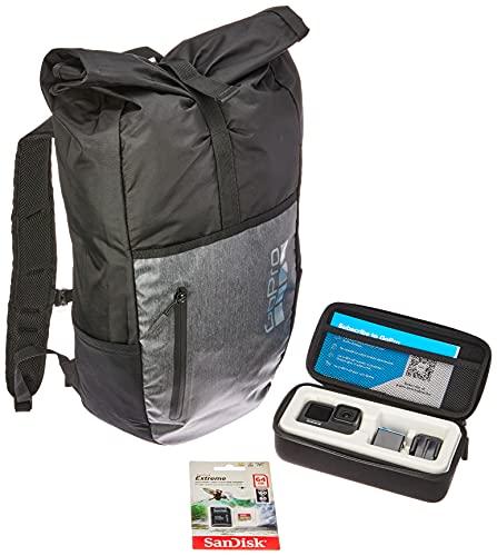 Câmera GoPro HERO9 Black - Kit Trip Prime com Cartão de Memória 64GB Sandisk Extreme e Mochila Rolltop GoPro Stash