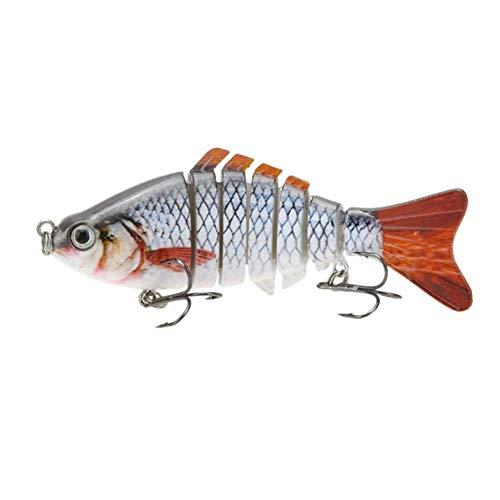 SALAKA 1PC Perch Walleye señuelo de Pesca Bionic Multi Articulado señuelo de Pesca Sun-Fish Realista Cebo Duro