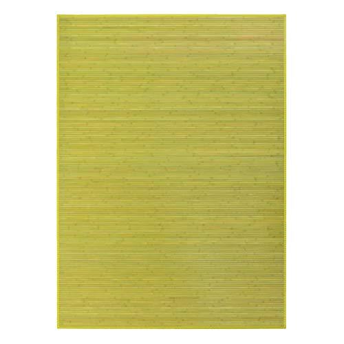 Alfombra de salón de bambú Verde 250x180 cm - LOLAhome