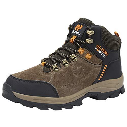 i-uend Herren Wanderschuhe Neue Herren Schnürschuhe Verschleißfeste Sneaker-Schuhe Herren Runde Zum Aufschieben Outdoor-Schuhe Herrenschuhe Schnürsenkel