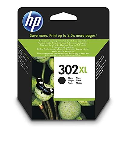 HP 302XL F6U68AE, Negro, Cartucho de Tinta de Alta Capacidad Original, compatible con impresoras de inyección de tinta HP DeskJet 1110, 2130, 3630, HP ENVY 4520, HP OfficeJet 3830, 4650, 5220 y 5230