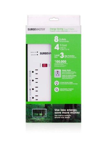 Belkin Surgemaster - Protector de sobretensiones de Ahorro de energía con Cable de 4 pies