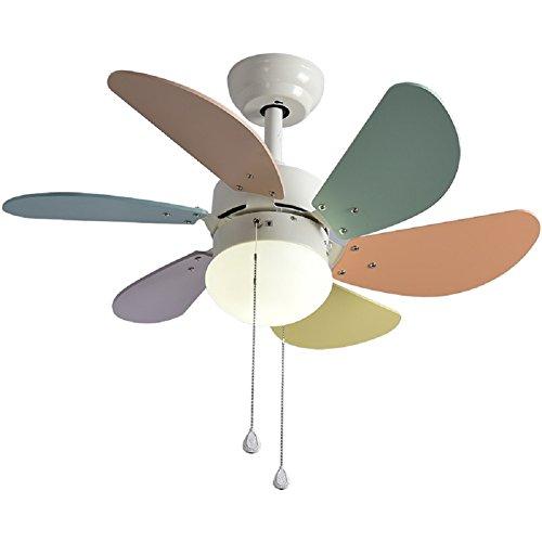 Ventilateur de plafond Avec lumière led bowl Pour Chambre d'enfant,Simple Led Lustre Pour Chambre Restaurant Salon Plafond Ventilateur de plafond Brise d'été-A