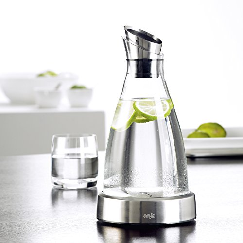 Emsa Flow Cool Carafe, Glass/Stainless Steel, 1 L