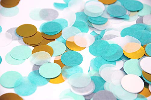 Regendeko 1000 Stück Mint Gold Papier Konfetti Hochzeit Geburtstagsfeier Deko