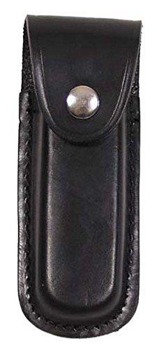 MFH Fox Outdoor Messer-Etui aus Leder mit Heftlänge bis 11 cm (Schwarz)