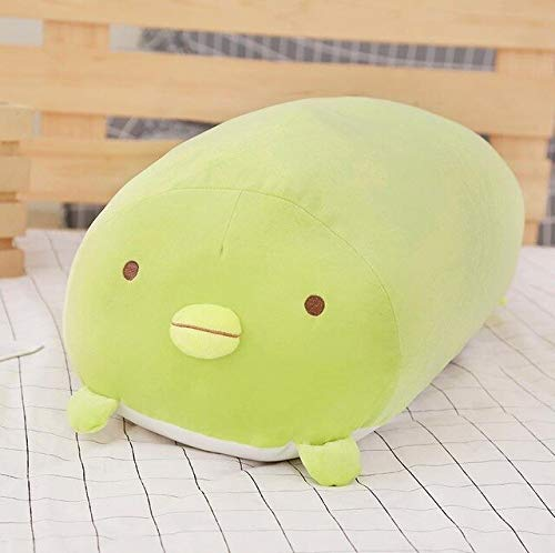 AYQX 30-60cm süßes Eck-Bio-Kissen Kawaii Japanisches Plüschtier gefülltes Valentinstaggeschenk für Baby-Kind 60CM GRÜN