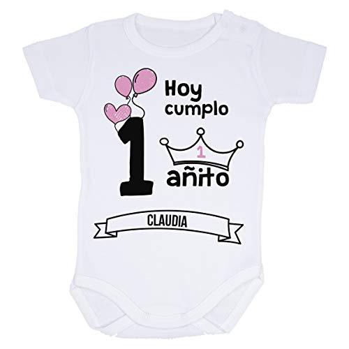 AR Regalos Body bebé primer cumpleaños (Niña) (Manga corta - 12 a 18 meses)