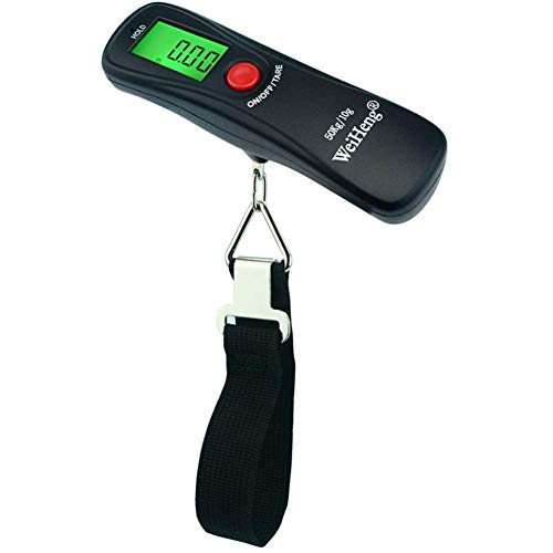 lqgpsx Básculas Digitales Mini báscula portátil para Equipaje 50 kg / 10 g Balanza electrónica Digital Maleta Bolsa de Viaje Báscula Colgante para Pesca, China, con Correa