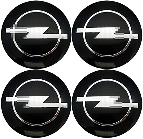 4 Piezas de Cubierta Central de Rueda de Coche, Adecuada para Opel Astra H G J B K Insigina Corsa X D Vectra C Vivaro E Zafira 65mm llanta de aleación Cubierta de Cubo Central de Insignia