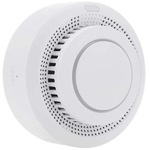 BeMatik - Detector de Humo Inteligente WiFi Compatible con Google Home, Alexa y IFTTT